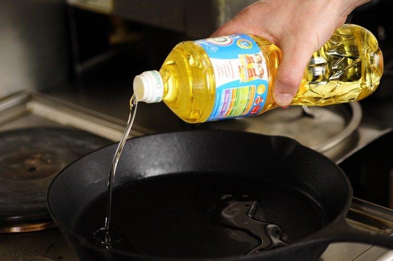 разогреть масло