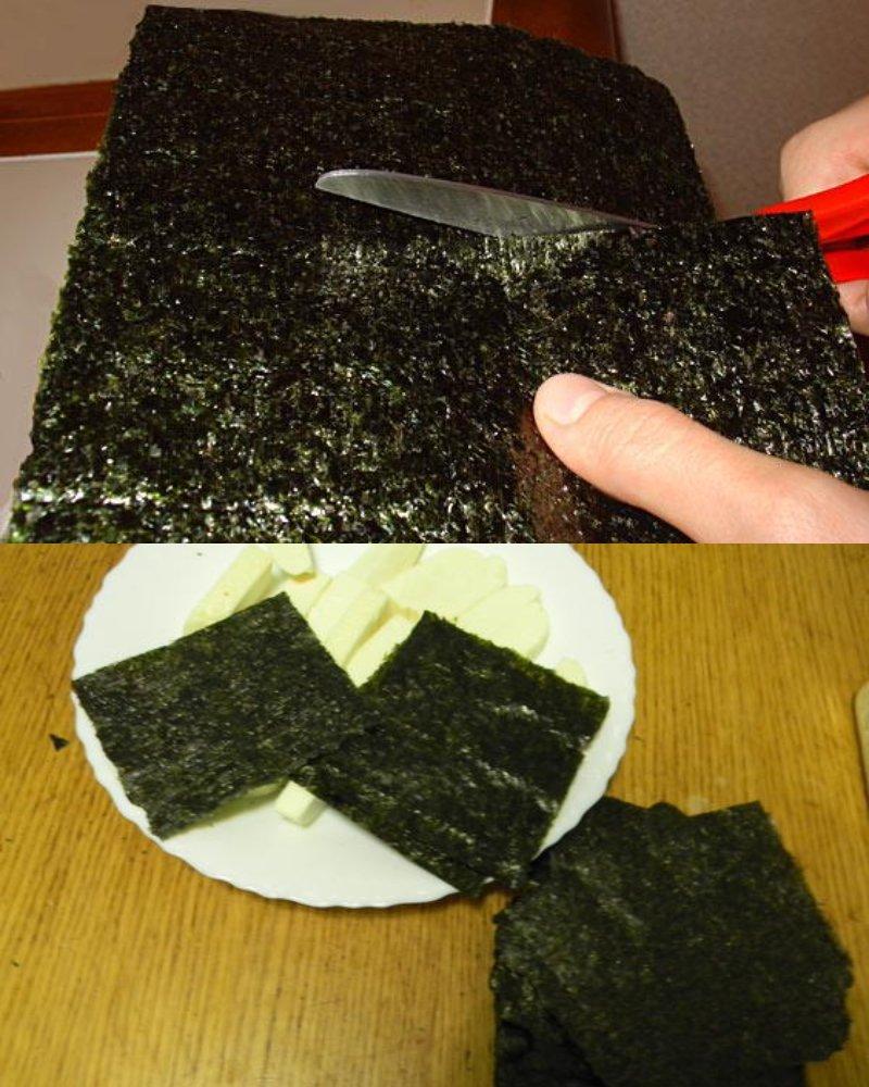 жареный тофу в листах нори