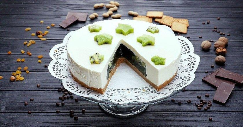 Желейний торт з ківі - готуємо з покроковими фото