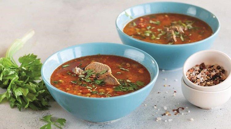 Зимний суп с говядиной и кускусом, как подавать