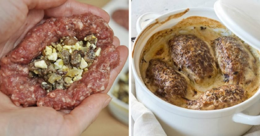 Зрази з м'яса з грибами - готуємо з покроковими фото